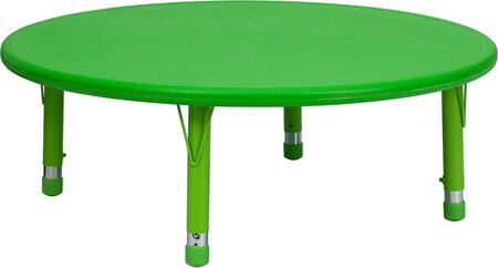 "Flash Furniture YU-YCX-005-2-ROUND-TBL-XX-GG 45"" Round Height Adjustable Plastic Activity Table with Floor Glides"