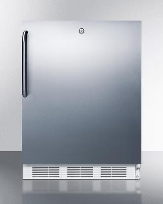 """Summit VT65MLCSS 24""""  Counter Depth Freezer with 3.5 cu. ft. Capacity in Stainless Steel"""
