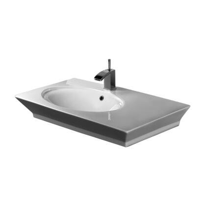 Barclay 437 Opulence Above Counter Basin with Oval Bowl with in White