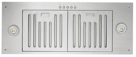 """Kobe INX2730SQB700 30"""" Cabinet Insert Range Hood with 750 CFM Internal blower, 3 Speeds, Mechanical Push Button Control,   Professional Baffle Filters and QuietMode in Stainless Steel"""