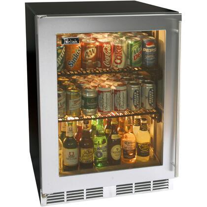 Perlick HA24RB4RDNU ADA Compliant Series Built In Counter Depth Compact Refrigerator with 4.3 cu. ft. Capacity, 2 Wire ShelvesField Reversible Doors