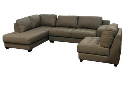 Diamond Sofa LAREDOLF3PCSECTMB Contemporary Bonded Leather Living Room Set
