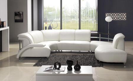 VIG Furniture VGEV104  Sofa and Chaise Leather Sofa