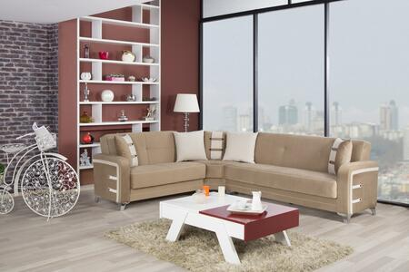 Decora Sectional in Golf Brown
