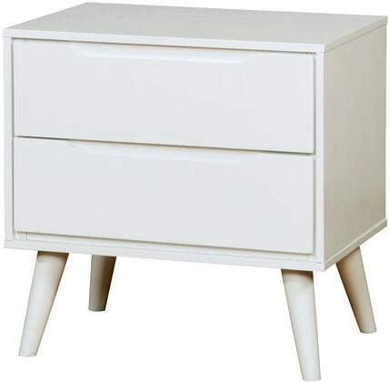Furniture of America CM7386WHN Lennart II Series  Night Stand