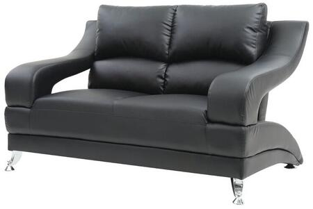 Glory Furniture G243L G200 Series Faux Leather Stationary with Metal Frame Loveseat