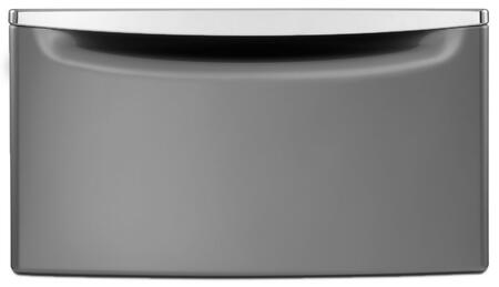 """Whirlpool XHPC155Yx Laundry Pedestal with 15.5"""" Height, Storage Drawer and Chrome Handle, in"""