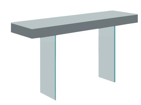 "Casabianca IL Vetro Collection CB-111-X-CONSOLE 55"" Console Table with Glass Legs and MDF Construction in"