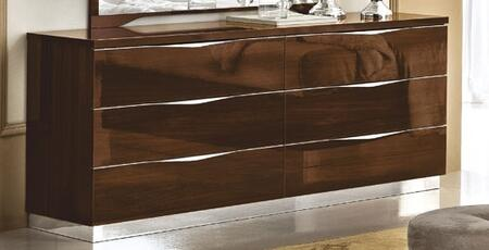 "ESF Onda Collection 68"" Double Dresser with 6 Drawers, Made in Italy and Wood Construction in"
