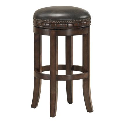 American Heritage 1111X4 Sonoma Series Stool with Suede Finished Wooden Frame and Bonded Leather Cushion in Tobacco