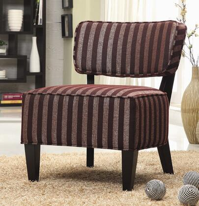 Coaster 900423 Armless Fabric Wood Frame Accent Chair