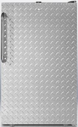 """Summit FF521BLADASERIES 20"""" AccuCold Series ADA Compliant Medical Freestanding Compact Refrigerator with 4.1 cu. ft. Capacity, Auto Defrost, Glass Shelves and Thermostat, Interior Light and Door Lock"""