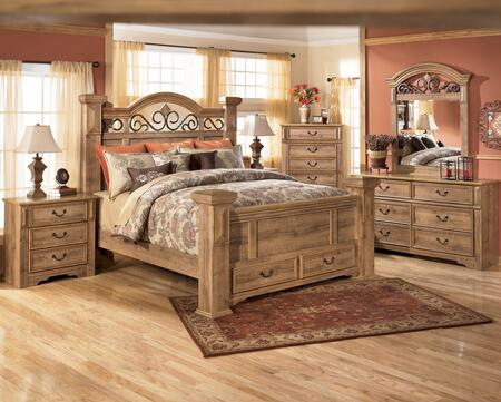 Signature Design by Ashley B17064S679850 Whimbrel Forge Series  Queen Size Poster Bed