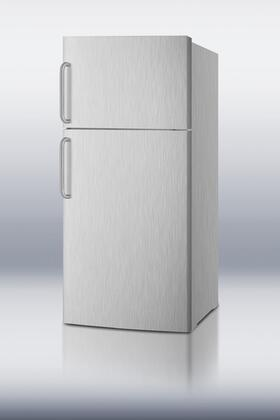 Summit FF1620WCSSIM Freestanding Top Freezer Refrigerator with 15.8 cu. ft. Total Capacity 2 Glass Shelves