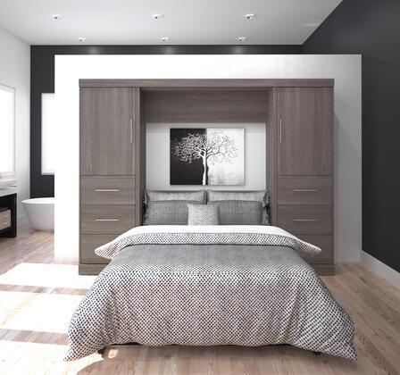 Bestar Furniture 2589447 Nebula Series  Full Size Storage Bed