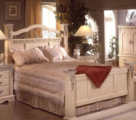 Sandberg 176G Belladonna Palace Series  Queen Size Panel Bed