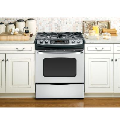 GE JGSP42SETSS  Slide-in Gas Range with Sealed Burner Cooktop Storage 4.1 cu. ft. Primary Oven Capacity