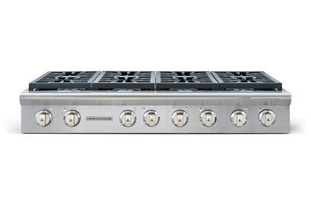 """American Range Legend Series ARSCT-488- 48"""" Sealed Burner Gas Rangetop With 8 Sealed Burners, Fail-Safe System, Analog Controls, Electronic Ignition, Pro-Style, Slide-In, In Stainless Steel"""