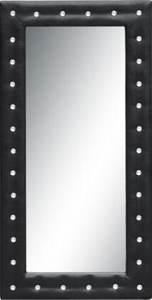 Fine Mod Imports FMI10073BLACK  Rectangular Portrait Floor Mirror