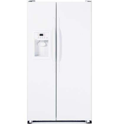 Hotpoint HSH25GFBWW Freestanding Side by Side Refrigerator