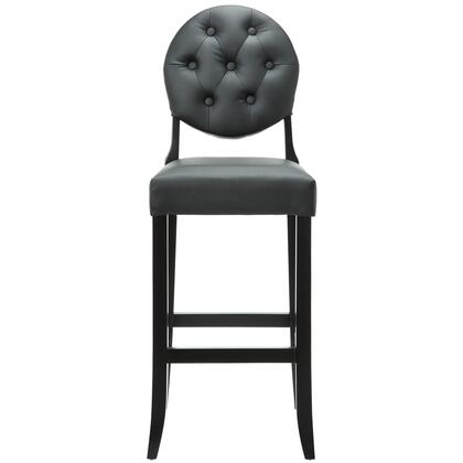 "Modway EEI-816 29"" Button Bar Stool with Birch Wood Frame, Dense Foam Padding for Comfort, Vinyl Seat and Back, and Seven Symmetrically Placed Buttons"