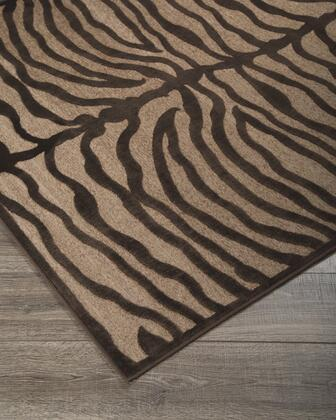 "Signature Design by Ashley Tafari R40037 "" x "" Size Rug with Zebra Design, Machine-Tufted Made, 4mm Pile Height, Viscose Material and Backed with Cotton and Chenille in Brown Color"