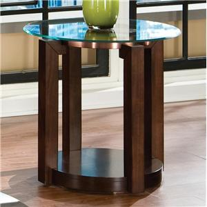 Standard Furniture 24602 Coronado Series Contemporary Round 0 Drawers End Table