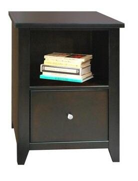 "Legends Furniture UL6805MOC 21.81"" Wood File Cabinet"