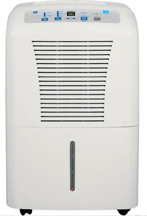 GE ADER Mobile Dehumidifier with R-410A Refrigerant, Energy Star Rating, Electronic Controls, Low Temperature Operation and Casters, in Light Gray
