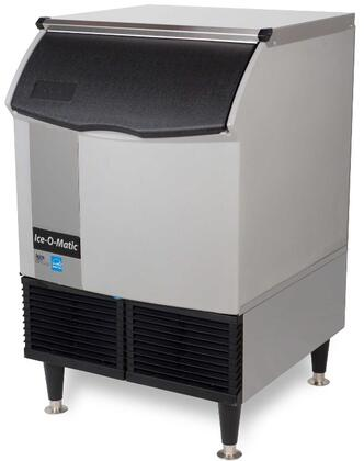 Ice-O-Matic ICEU226 Self-Contained  Cube Ice Machine with  Condensing Unit, Integrated Storage, Superior Construction, Cuber Evaporator, Harvest Assist & Filter-Free Air: Stainless Steel Top Panel
