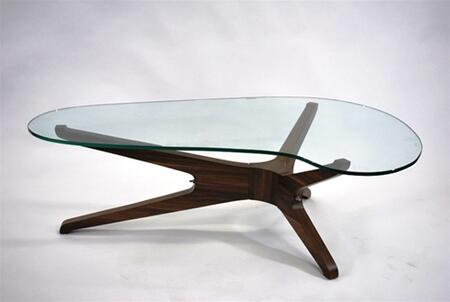 Fine Mod Imports FMI8009WALNUT Glass Modern Table