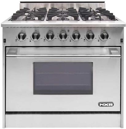 """NXR DRGB3602X 36"""" Pro-Style Gas Range With 6 Sealed Burners, 5.2 cu. ft. Manual Clean Convection Oven and Infrared Broiler, in Stainless Steel"""