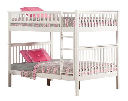 Atlantic Furniture AB565 Woodland Bunk Bed Full Over Full
