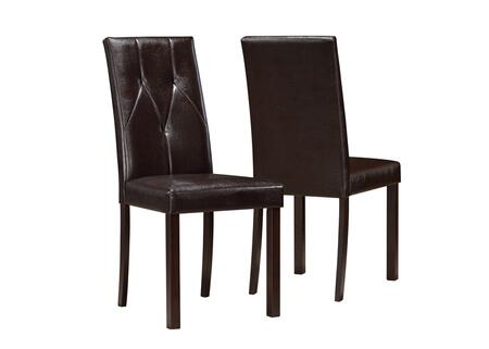 Monarch I1181  Faux Leather Wood Frame Dining Room Chair