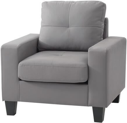 Glory Furniture G461AC Newbury Series Faux Leather Armchair in Grey
