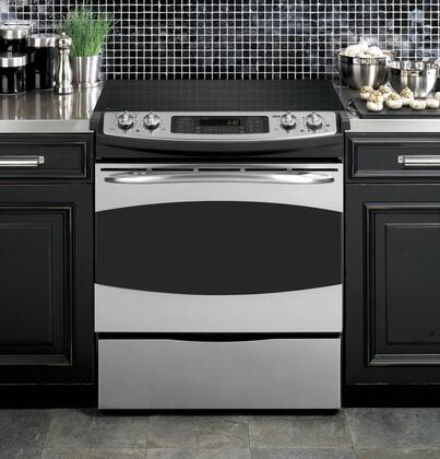 GE PS968SPSS Profile Series Slide-in Electric Range with Smoothtop Cooktop Storage 4.1 cu. ft. Primary Oven Capacity |Appliances Connection