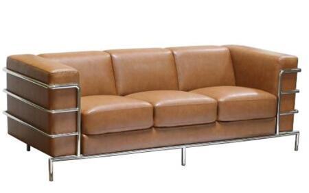 Diamond Sofa citadelsofac Citadel Series Stationary Bonded Leather Sofa