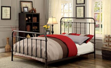 Furniture of America CM7701GMQ Iria Series  Queen Size Bed