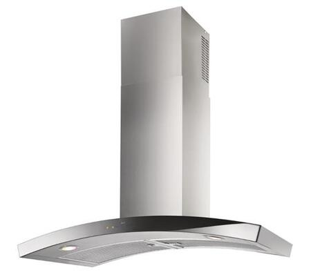 "Best WC35 36"" Dune Wall Mount Chimney Hood with Heat Sentry, Clean Filter Reminder, Stainless Steel Mesh Grease Filters, and LED Lighting: Stainless Steel"