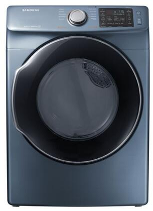 """Samsung DVE45M5500 27"""" Front-Load Electric Dryer With 7.5 cu. ft. Capacity DOE, Energy Star Certified, Multi-Steam Technology, Vent Sensor, Sensor Dry, 4 Temperature Settings, Smart Care, Interior Drum Light, in"""