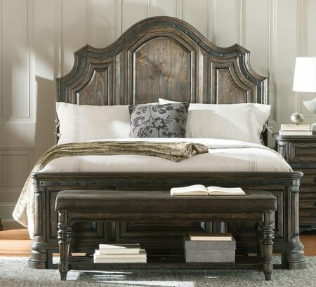 Coaster Carlsbad 20404 Panel Bed with Distressed Detailing, Solid Wood and Pine Wood Veneer in Vintage Espresso Finish