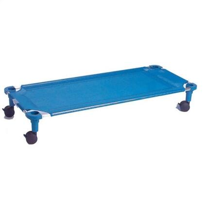 "Mahar 575T 40"" Blue Fabric Unassembled Cot Dolly With Color Leg (Toddler Size)"