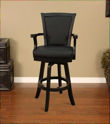 "American Heritage Auburn Series 100619 30"" Traditional Bar Stool With 4"" Cushion, Padded Back, Fully Integrated Armrest, Decorative Footrest, Full Bearing Swivel, and Floor Glides"