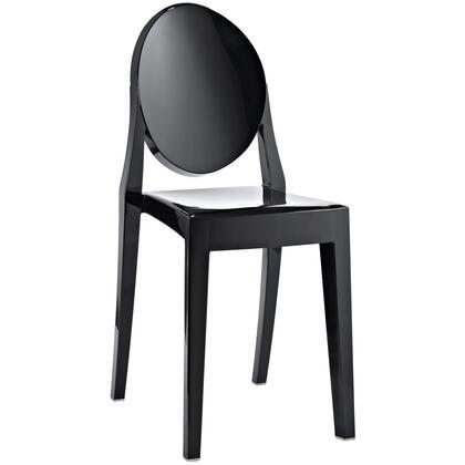 Modway EEI122BLK Casper Series Modern Not Upholstered Polyblend Frame Dining Room Chair |Appliances Connection