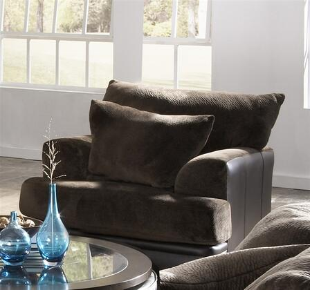 Jackson Furniture 44420109 Fabric/Faux Leather Armchair with Wood/Steel Frame in Chocolate