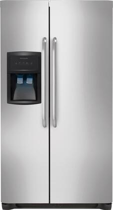 "Frigidaire FFHS2622MS 36""  Side by Side Refrigerator with 25.54 cu. ft. Capacity in Stainless Steel"