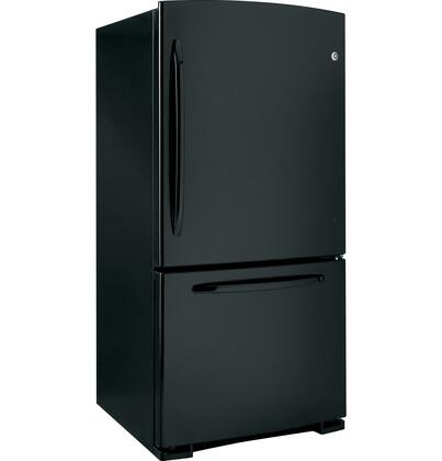 GE GDSC3KCYBB  Bottom Freezer Refrigerator with 22.7 cu. ft. Total Capacity 6.5 cu. ft. Freezer Capacity 4 Glass Shelves