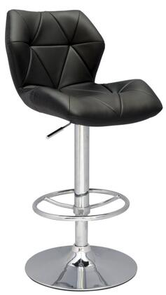 Chintaly 0310AS Residential Bonded Leather Upholstered Bar Stool