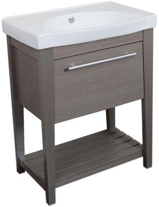 Bellaterra Home 804353X 27.5 Single Sink Vanity - Wood