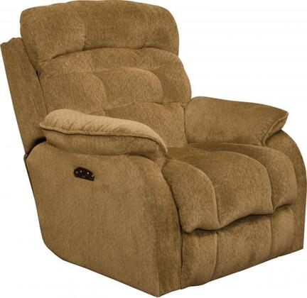 "Catnapper Crowley Collection 37"" Power Lay Flat Recliner with Power Headrest, Steel Seat Box, Control Panel Technology, Comfort Coil Seating and Soft Chenille Fabric Upholstery"